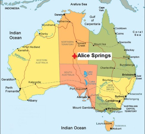 Map. Alice Springs