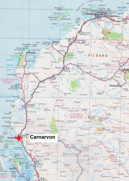 Map Carnarvon