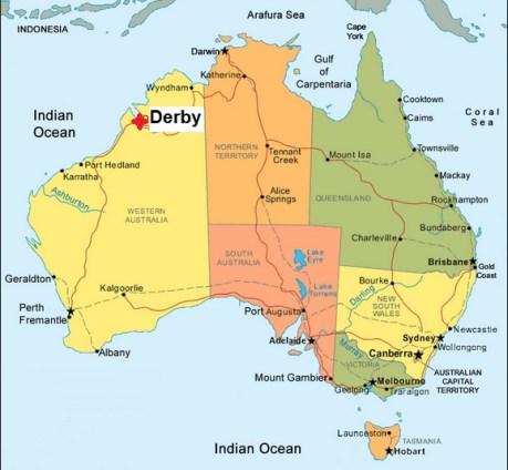 Map. Derby