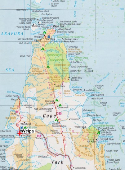 Map. Weipa