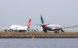 The Qantas group has experience a marginal fall in loads. (Andrew McLaughlin)