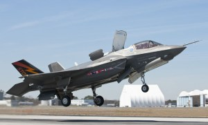 The F-35 will make its international airshow debut at RIAT & Farnborough in July. (JSF PO)