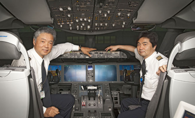 A file image of ANA pilots in a Boeing 787. (Boeing)