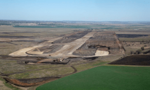Aerial photo of the new airport development, taken in late September. (Wagners)