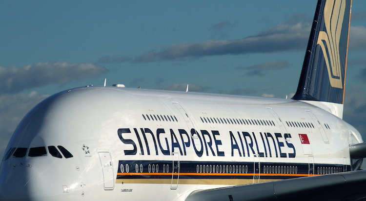 A Singapore Airlines Airbus A380 at Sydney Airport. (Rob Finlayson)