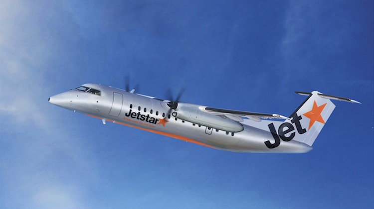 An artist's impression of a Bombardier Q300 in Jetstar colours. (Jetstar)
