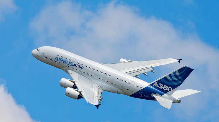 A file image of an A380 in Airbus livery. (Airbus)