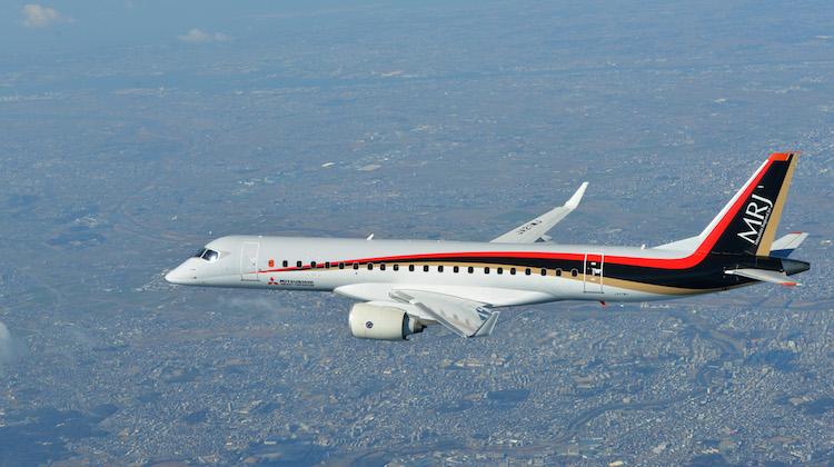 The Mitsubishi Regional Jet has resumed test flights. (Mitsubishi Aircraft Corp)