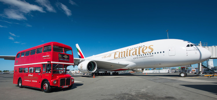From a London Bus to Christchurch on Emirates' A380. (Emirates)