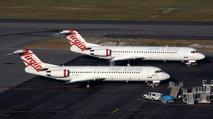 A file image of Fokker 100s in Virgin Australia livery. (Rob Finlayson)