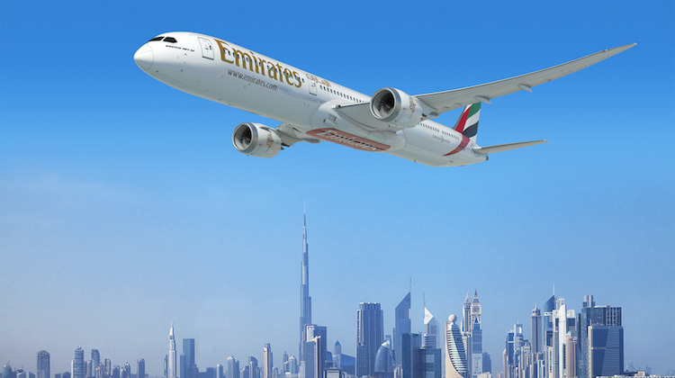An artist's impression of the Boeing 787-10 in Emirates livery. (Emirates)