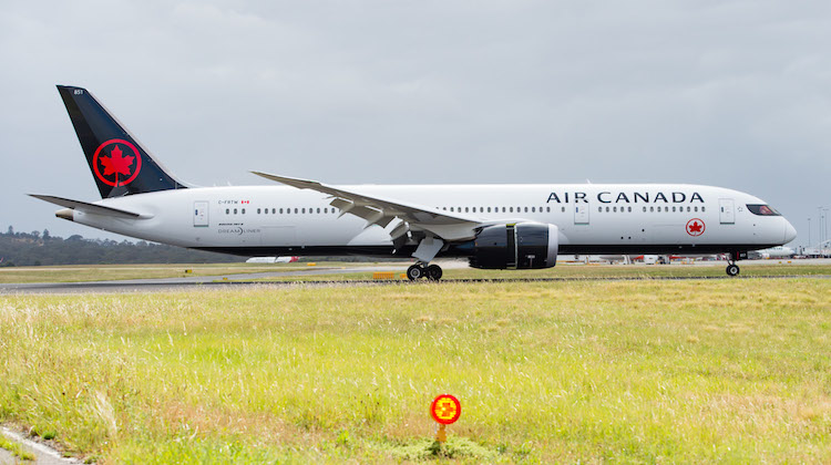 Air Canada's Boeing 787-9 C-FRTW at Melbourne Tullamarine. (Air Canada)