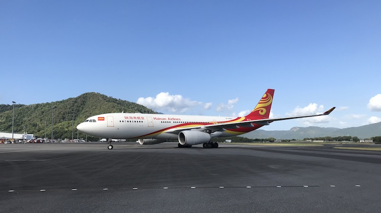 Hainan Airlines Airbus A330-200 B-5963 at Cairns Airport. (Cairns Airport)