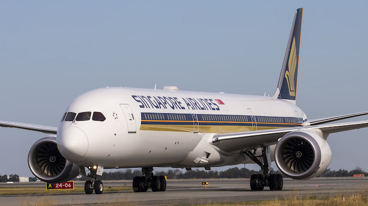 Singapore Airlines was the first carrier to operate the Boeing 787-10 to Australia when it deployed the next generation widebody on the Perth-Singapore route in early May. (Keith Anderson)