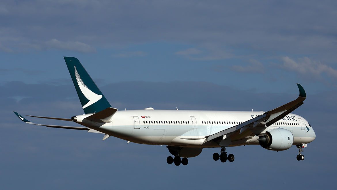 Cathay Pacific flies the A350-900 to a number of Australian ports. (Rob Finlayson)