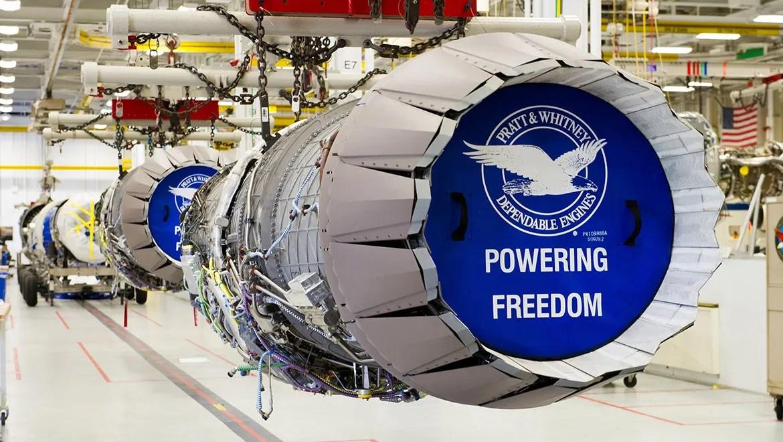 F135s on the Pratt and Whitney production line. (Pratt and Whitney)