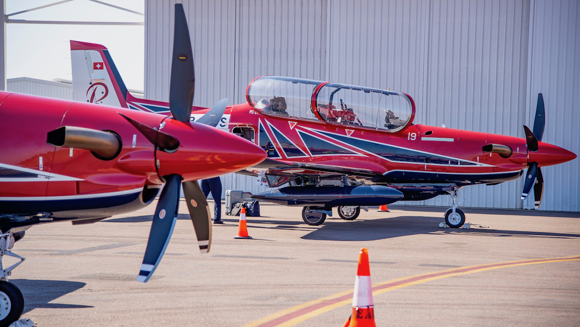 The first two aircraft for the Air Force Roulettes in Darwin. (Sid Mitchell)