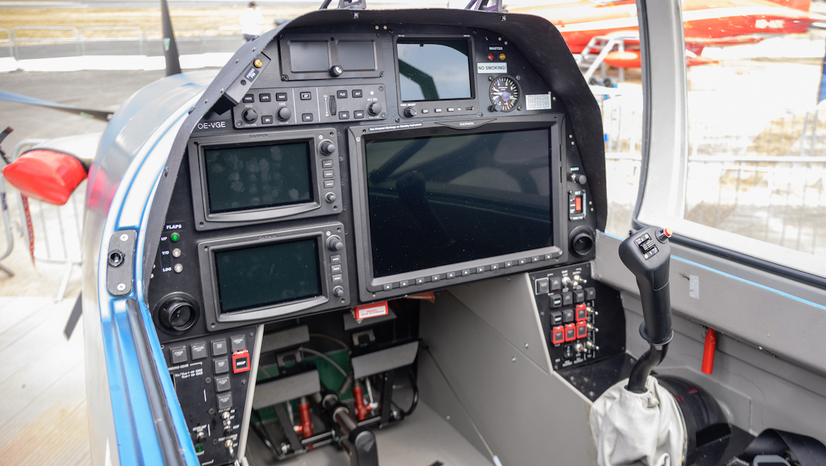 The modular G3000 integrated flight deck boasts a large and vibrant, high-resolution flight display in the front and rear pilot positions. (Mark Jessop)