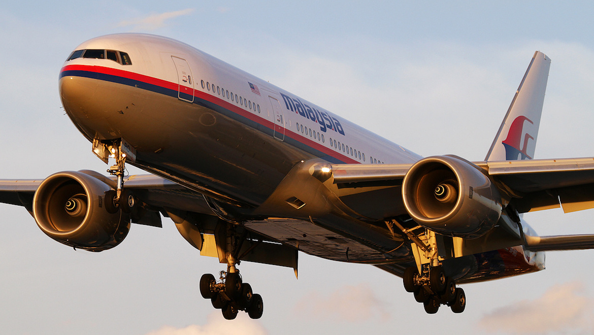 A file image of Malaysia Airlines Boeing 777-200ER 9M-MRO at Sydney. (Seth Jaworski)
