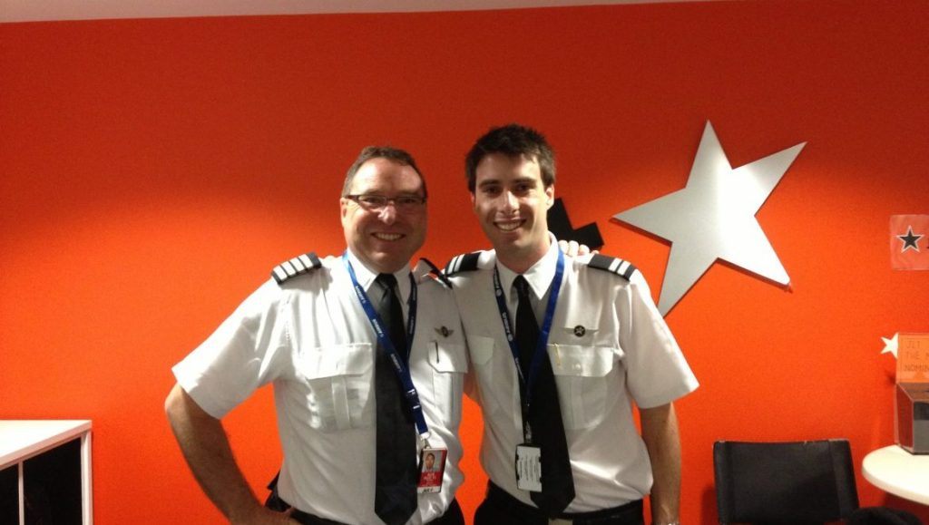 Father and son Peter and Tom Wyatt both fly the A320 (Jetstar)