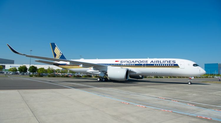 Singapore Airlines' first Airbus A350-900ULR at Toulouse. (Airbus)