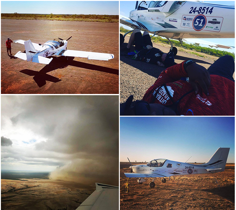Scenes from the Outback Air Race. (Stephen Limkin Outback Aviators)