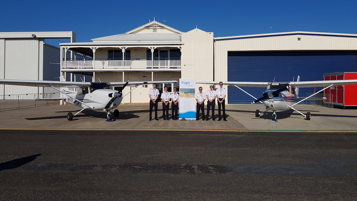Cadets will progress from the basics to CPL training in Cessna 182s. (Flight Options)