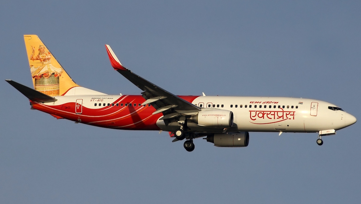 A file image of Air India Express Boeing 737-800 VT-AYD. (Paul Spijkers/Wikimedia Commons)