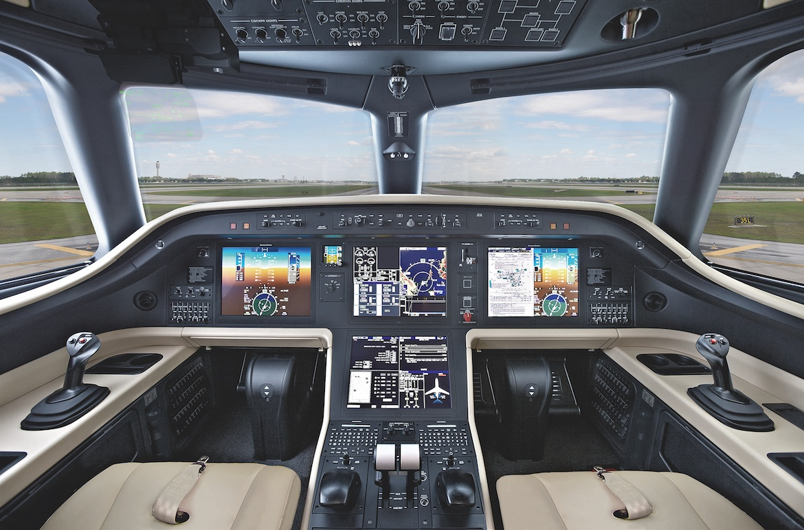 The Embraer Praetor 500 and 600 flight deck will feature Rockwell Collins ProLine Fusion products. (Embraer)