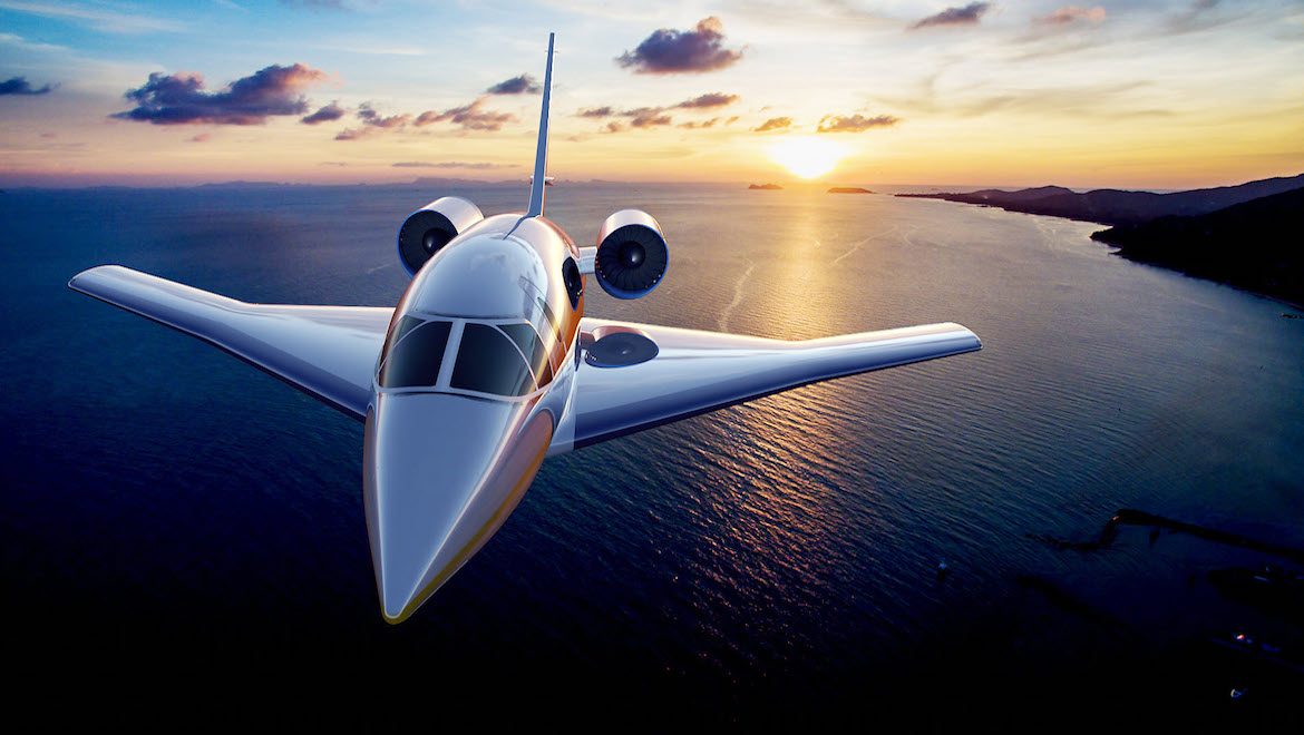 The Spike S-512 is designed to carry 22 passengers and cruise at Mach 1.6. (Spike Aerospace)