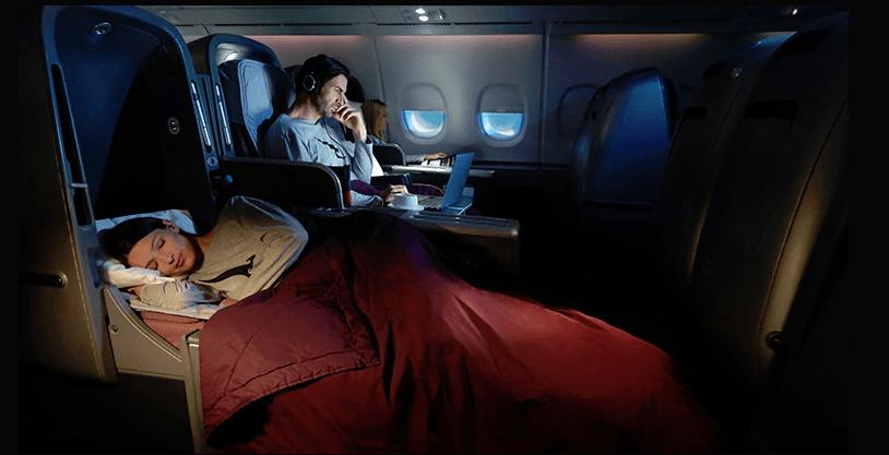 A file image of the Qantas Skybed. (Qantas)