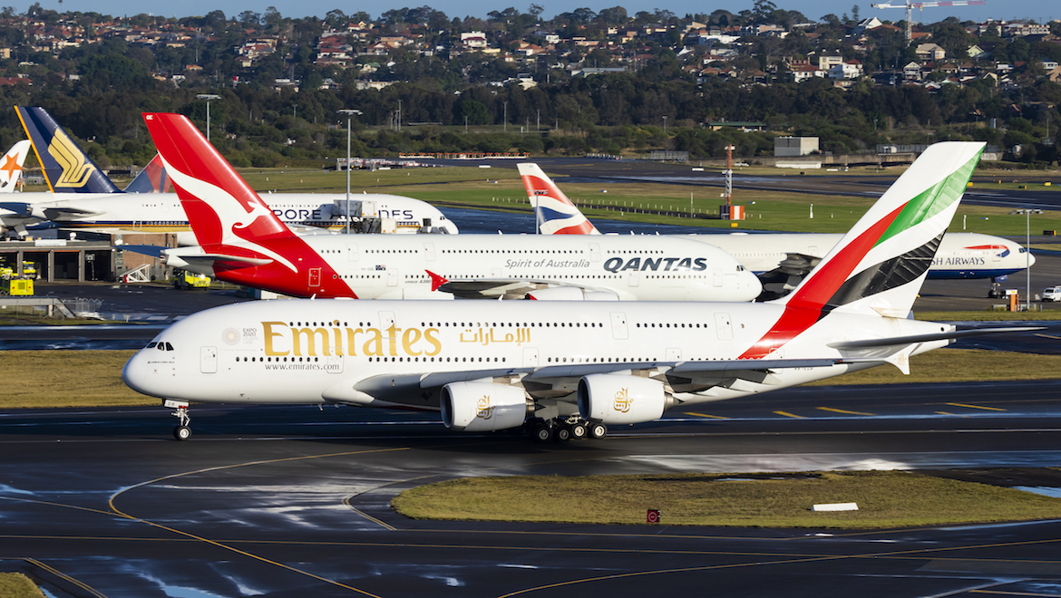 A380s are a common sight at Sydney Airport. (Seth Jaworski)