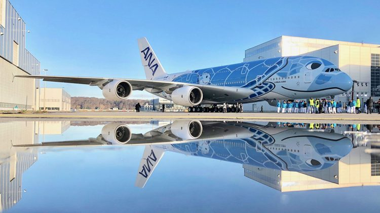 ANA's first Airbus A380. (Airbus)