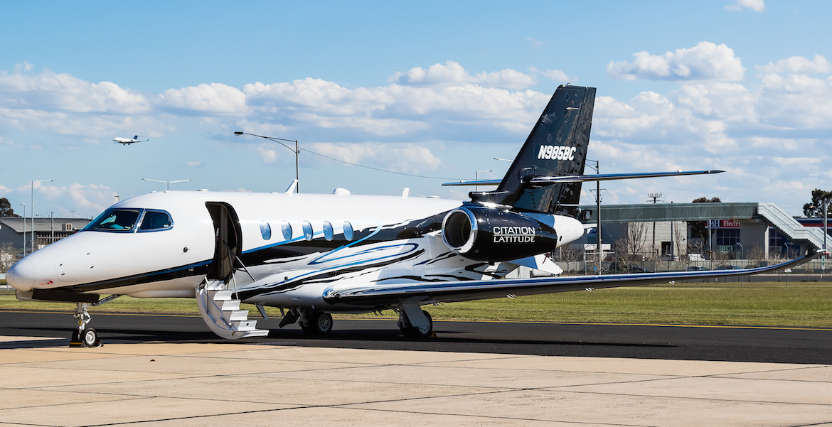 Cessna's Citation Latitude demonstrator recently visited Australia. (Dave Soderstrom)