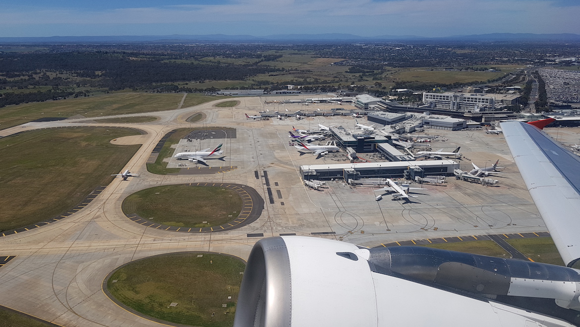 An aerial look at Melbourne Airport. (Lachie Hare)