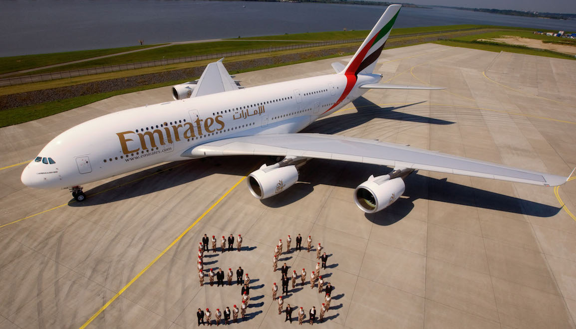 Emirates received the first of an initial order of 58 Airbus A380s in July 2008. (Emirates)