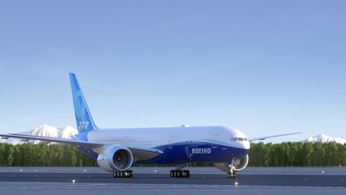 Boeing has conducted a staff-only rollout ceremony for its 777-9X. (Boeing/Twitter)