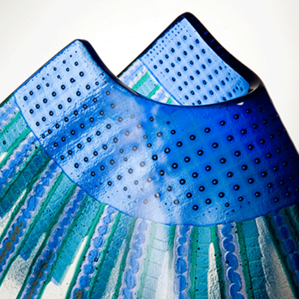 Tidal Pool by Bethany Wheeler Fused and slumped glass . Detail