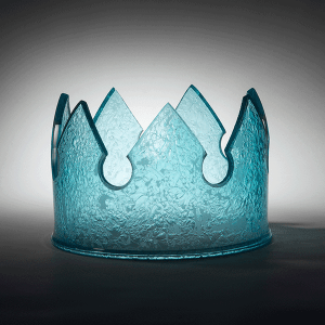 The Sovereign's Symbol by Laurel Kohut. Blown and cold worked glass.