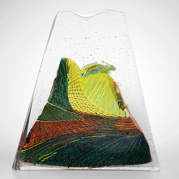Native Valley 01/11 by Gerry King. Kiln cast glass.