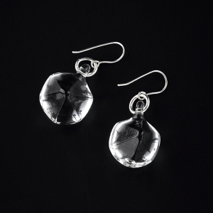 Diamond-Earrings. Lampworked-glass-and-sterling-silver.-$220.00