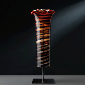 Maximal Semblance 4-07 by Gerry King. Handblown glass and stainless steel.