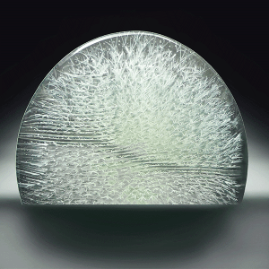 White Frost #3 by Emma Varga. Fused and Cast Glass. H 36cm x W 44cm x D 6cm