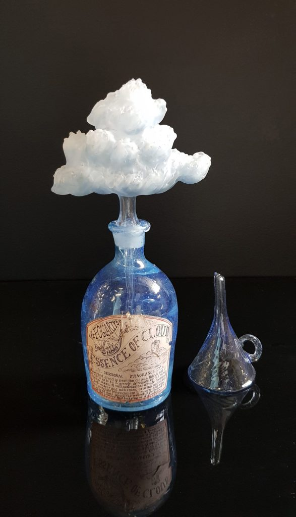 Cloud Essence bottle #32 (fragrance ) medium with funnel by Mark Eliott
