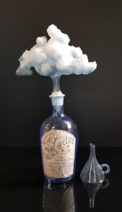 Cloud Essence bottle #33 (tonic) large with funnel by Mark Eliott