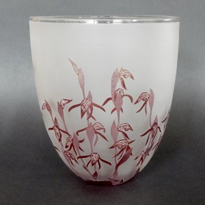 Red beaks orchid bowl- Lyperanthus nigricans