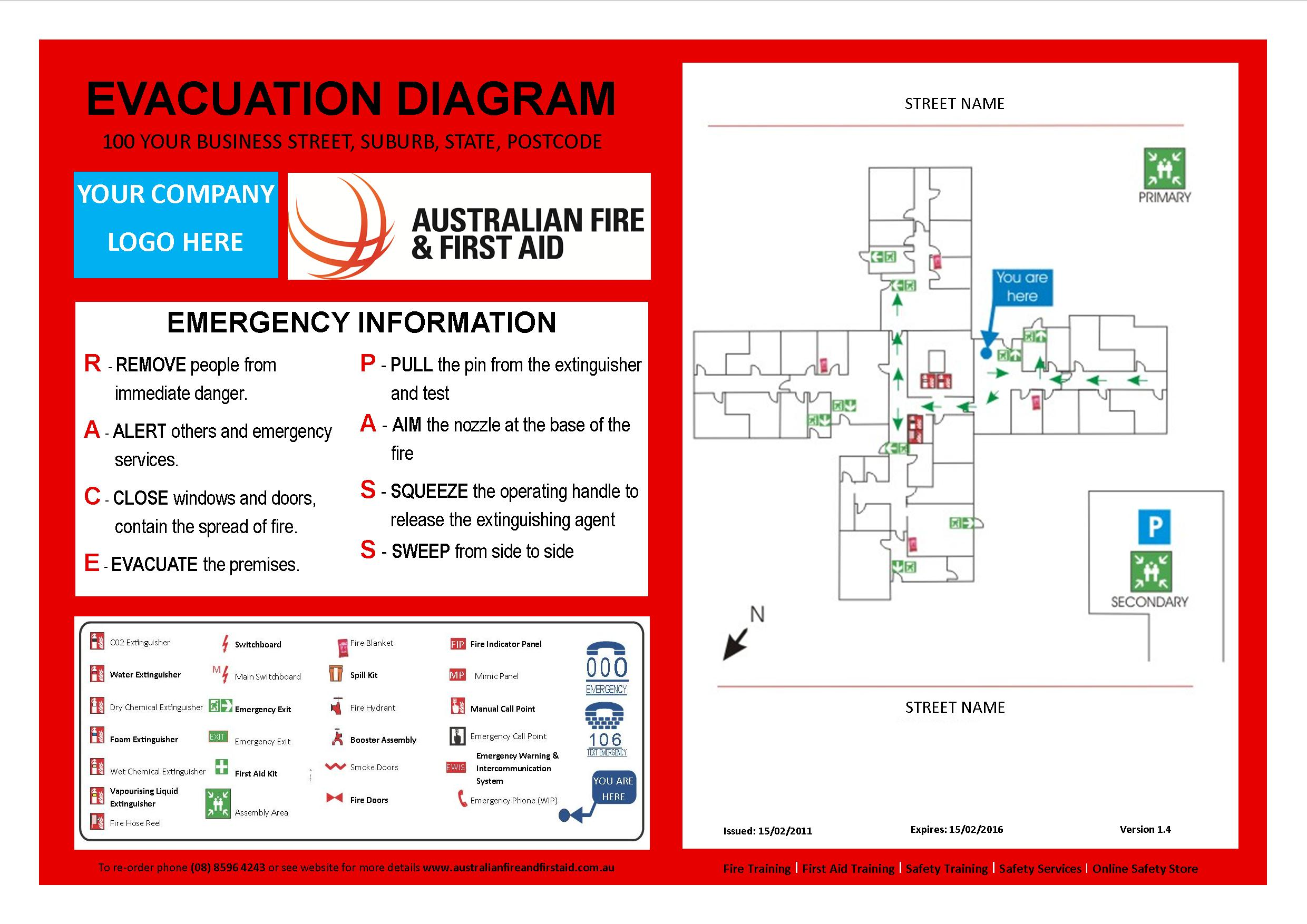example of fire exit diagram lpg switch wiring emergency