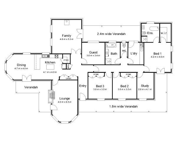 2 Bedroom House Plans With Open Floor Plan Australia
