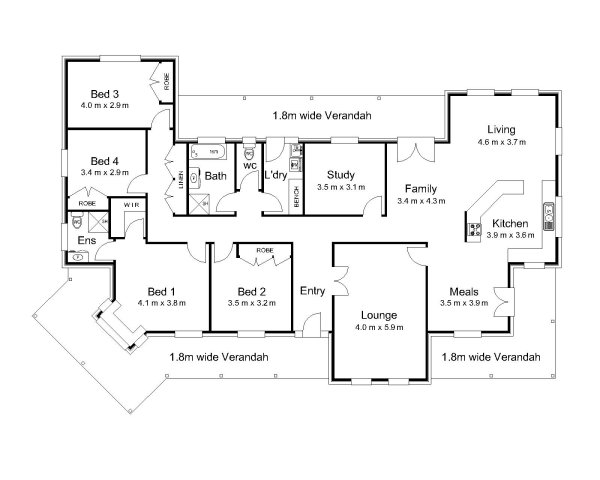 The Strickland Australian House Plans