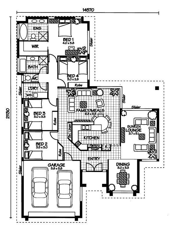 The Bedarra « Australian House Plans